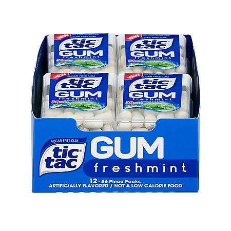 Tic Tac Gum, Freshmint (1 oz., 12 pk.)