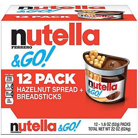Nutella & GO! Hazelnut Spread + Breadsticks (1.8 oz. pks, 12 ct.)