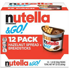 Nutella & GO! Hazelnut Spread + Breadsticks (1.8 oz. pks, 12 ct.)