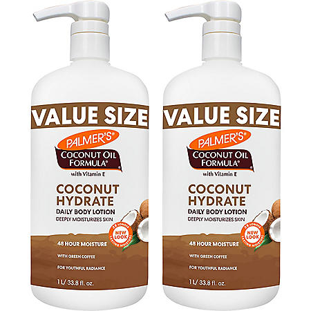 Palmer's Coconut Oil Formula with Vitamin E Lotion (33.8 fl., oz., 2pk.)