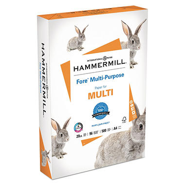 Hammermill - Fore Multipurpose Paper, 20lb, 96 Bright, (A4) 8-3/8 x 11-3/4