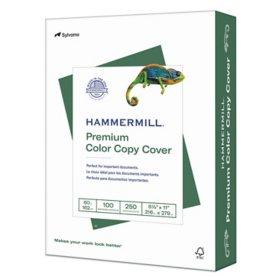 """Hammermill - Color Copy Cover Paper, 60lb, 100 Bright, 8-1/2 x 11"""" - 250 Sheets"""