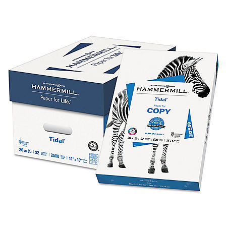 "Hammermill - Tidal MP Copy Paper, 20lb, 92 Bright, 11 x 17"" - Ream"