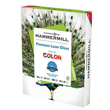 "Hammermill - Color Laser Gloss Paper, 32lb, 94 Bright, 8-1/2 x 11"" - 300 Sheets"