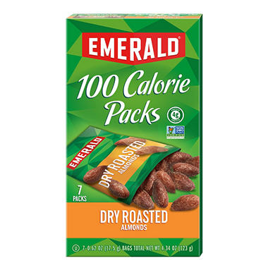 Emerald® 100 Calorie Pack Dry Roasted Almonds - 7 pks./box