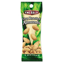 Emerald Dry Roasted Almonds (1.5 oz. tube pack, 12 pk.)