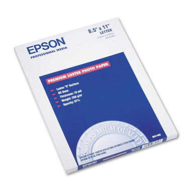 Epson - Ultra Premium Photo Paper, Inkjet, 8-1/2 x 11