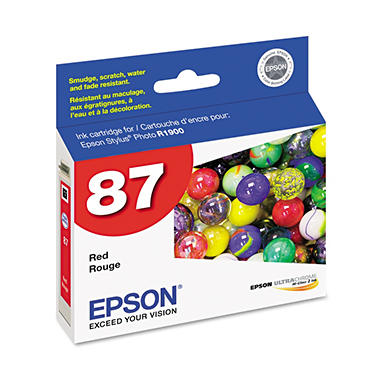 Epson - T087720 UltraChrome Hi-Gloss 2 Ink - Red