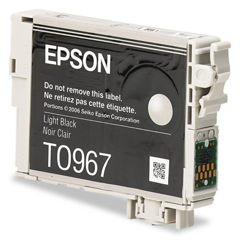 Epson 96 Series Ink, Light Black (T096720, 450 Page Yield)