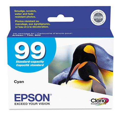 Epson 99 Claria Ink Cartridge, Select Color (450 Page-Yield)