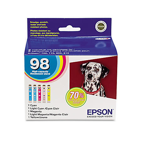 Epson 98 Claria High-Yield Ink Cartridge, Assorted Colors (5 pk.)