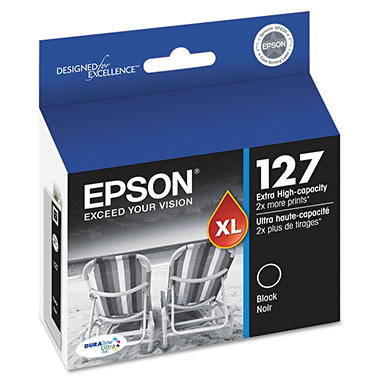Epson DuraBrite 127 Extra High-capacity Ink Cartridge, Black