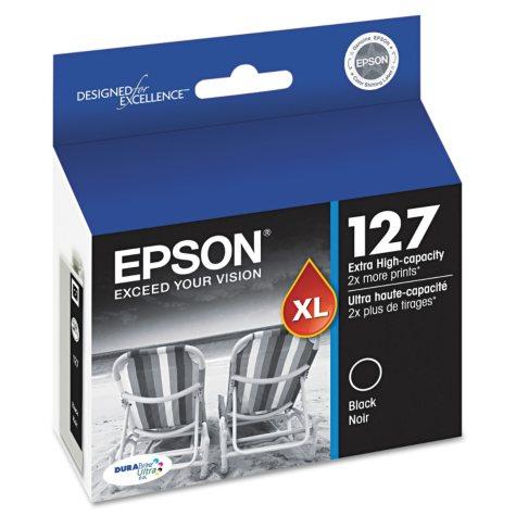 Epson DuraBrite 127 Extra High-capacity Ink Cartridge, Black