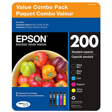 Epson DuraBrite Extra High-Capacity Ink Cartridge, Color Multi-pack