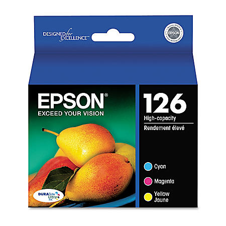 Epson 126 High-Yield Ink Combo Pack, Cyan/Magenta/Yellow (3 pk.)