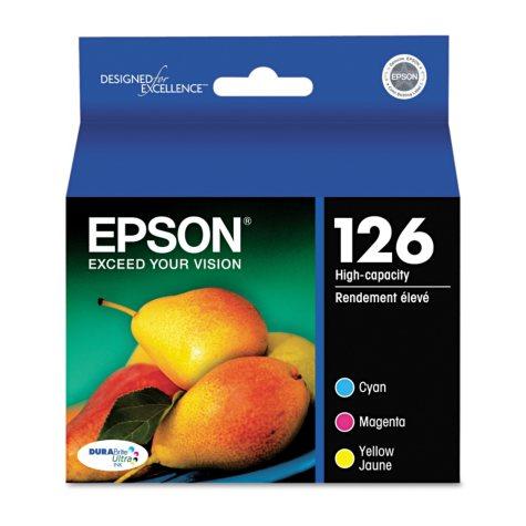 Epson 126 High-Yield Ink Combo Pack, Cyan/Magenta/Yellow (3 pk.)