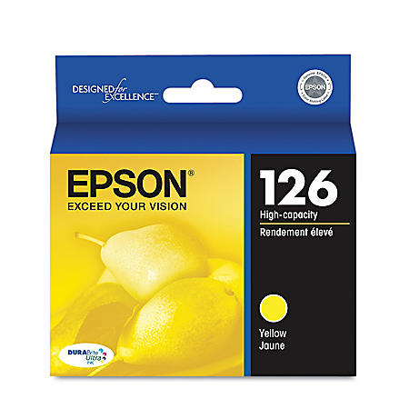 Epson 126 Series High-Yield Ink, Yellow (T126420)