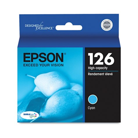 Epson 126 Series High-Yield Ink, Cyan (T126220)