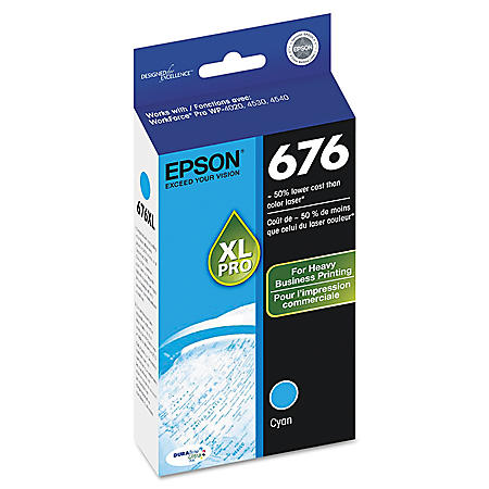 Epson T676XL DURABrite Ultra Ink Cartridge, Various Colors, (2,400 Page Yield)