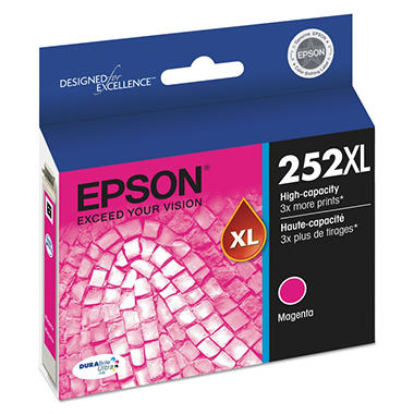 Epson 252XL DURABrite Ultra High-Yield Ink, Magenta (T252XL320)