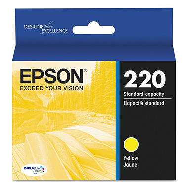 Epson 220 Series DURABrite Ultra Ink, Yellow (T220420)