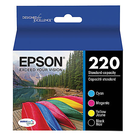 Epson 220 Series DURABrite Ultra Ink Combo Pack, (T220120BCS)