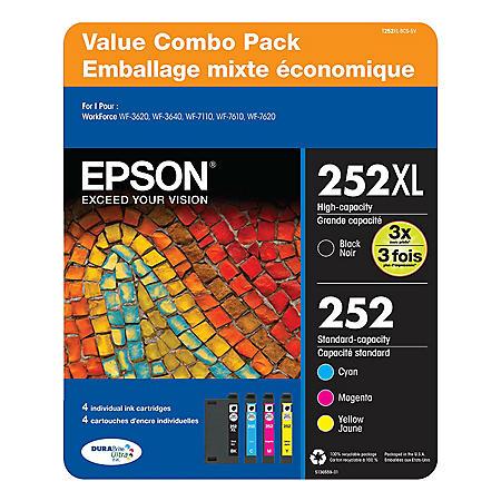 Epson T252 DURABrite Ultra Ink Club Pack