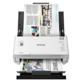 "Epson DS-410 Document Scanner, 1200 dpi, 8 1/2"" x 120"", 26 ppm"