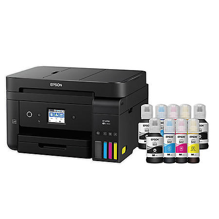 Epson WorkForce EcoTank 4750SE Wireless All-in-One Printer with Bonus Black Ink