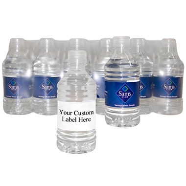Custom Labeled Bottled Water - 16.9 oz. - By the Case