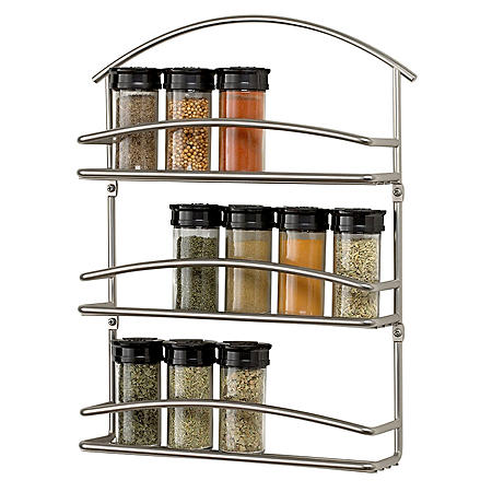 Euro Wall Mount Spice Rack Satin Nickel Sam S Club