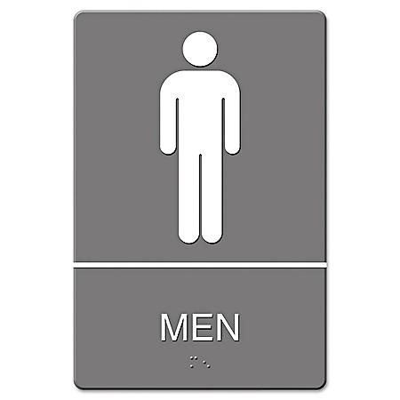 ADA Sign, Men Restroom Symbol