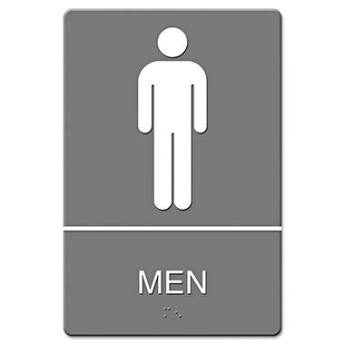 ADA Sign, Men Restroom Symbol