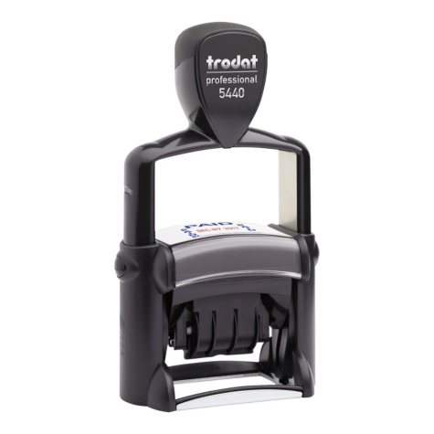 Trodat - Trodat Professional 5-in-1 Date Stamp, Self-Inking, 1 1/8 x 2 -  Blue/Red