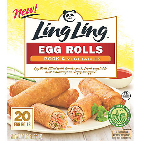 Ling Ling Pork and Vegetable Egg Rolls (20 ct.)