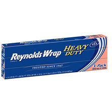 "Reynolds Wrap 18"" Heavy Duty Aluminum Foil, 120 sq. ft. (3 ct.)"