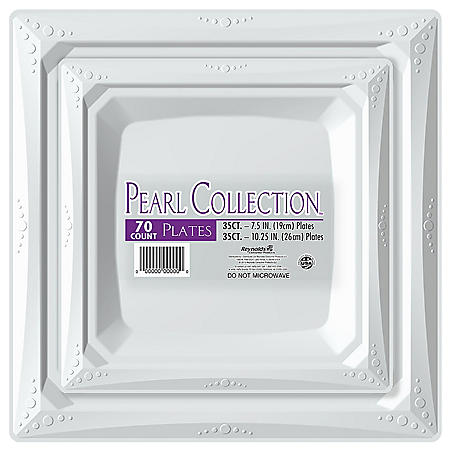 Pearl Collection Plastic Plates Combo Pack (70 ct.)