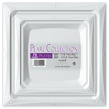 Pearl Collection Plastic Plates Combo Pack (70 ct.)  sc 1 st  Sam\u0027s Club : sams plastic plates - pezcame.com