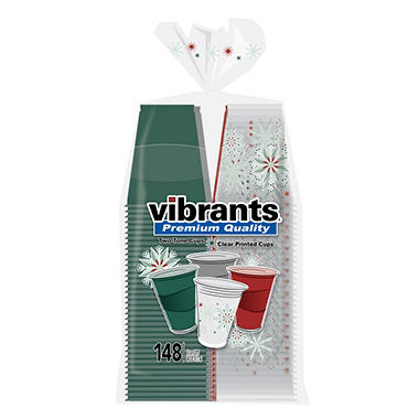 Vibrants Premium Quality Holiday Cups, 16 oz. (148 ct.)