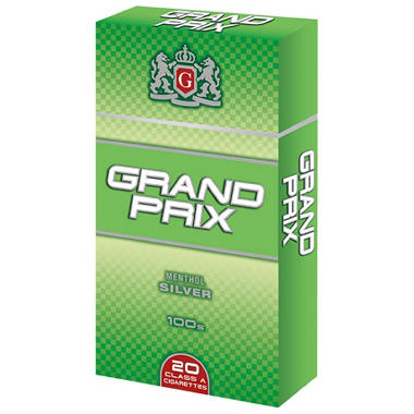 Grand Prix Menthol Silver 100s Box - 200 ct.