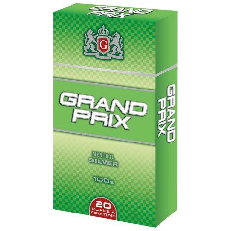 Grand Prix Silver Menthol 100s Box  1 Carton