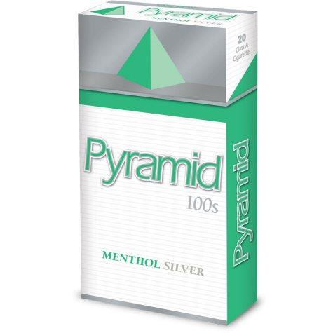 Pyramid Menthol Silver 100s Box 1 Carton