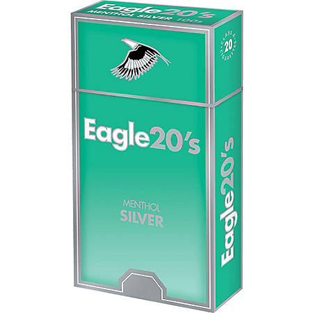 Eagle 20s Menthol Silver Kings Box (20 ct., 10 pk.)