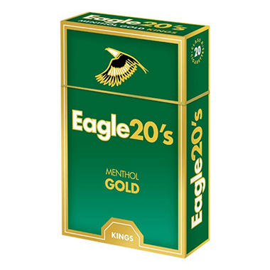 Eagle 20s Menthol Gold Kings Box 1 Carton