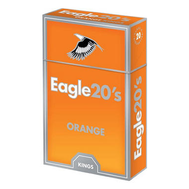 Eagle 20s Orange Kings Box 1 Carton
