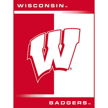 College Oversized Blanket - Wisconsin