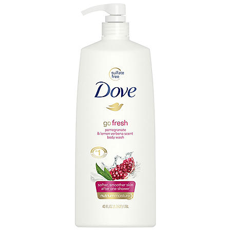 Dove Go Fresh Revive Body Wash, Pomegranate and Lemon Verbena (40 fl. oz.)