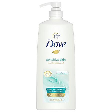 Dove Nourishing Body Wash, Sensitive Skin (40 fl. oz.)