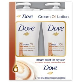 Dove Cream Oil Shea Butter Lotion (13.5 fl. oz., 2 pk.)