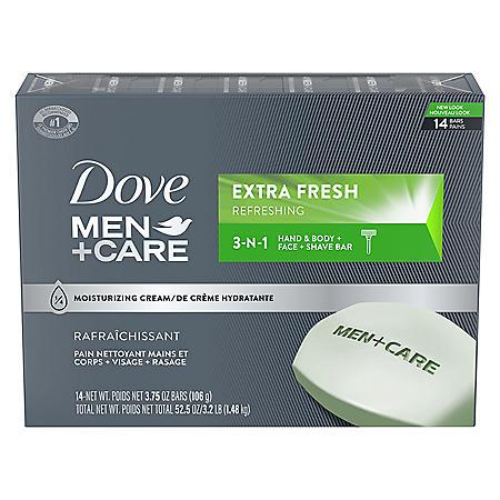 Dove Men+Care Body and Face Bar Extra Fresh (3.75 oz., 14 ct.)